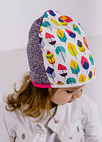 Демисезонная шапочка для девочки Мило, размер 50 см
