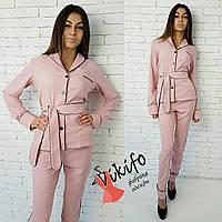 Костюмчик в пижамном стиле розовый 12273