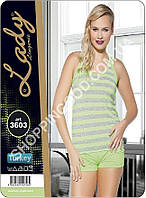 Женская пижама Lady Lingerie 3603, домашний костюм майка и шорты
