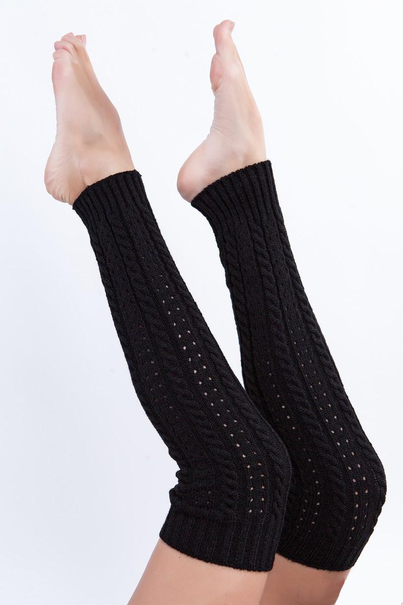 Черные гетры для гимнастики и танцев