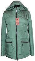 Женская куртка весенняя с капюшоном, 50- 62 размеры