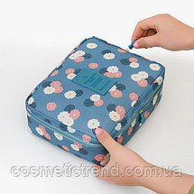 Косметичка/несесер жіноча дорожня Trevel Season Bag Floralblue 22*17*8 см, фото 2