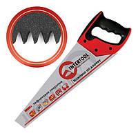 Ножовка по дереву с тефлоновым покрытием 500мм с каленым зубом Intertool, 3-ая заточка