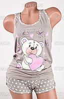 Женский комплект майка+шорты Турция PinkSecret 4000-1. Размер 44-46