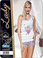 Женская пижама Lady Lingerie 3624, домашний костюм майка и шорты