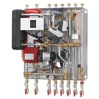 Квартирный тепловой пункт для независимого отопления и ГВС Danfoss Akva Lux II VX H2WP, ECL, 2 HE circuits