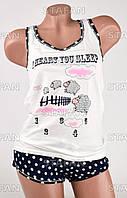Женский комплект майка+шорты Турция PinkSecret 3642-1. Размер 44-46