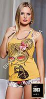 Женская пижама Lady Lingerie 3903, домашний костюм майка и шорты