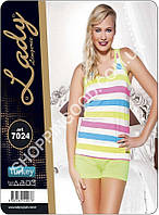 Женская пижама Lady Lingerie 7024, домашний костюм майка и шорты
