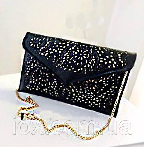 Черная женская кожаная сумка