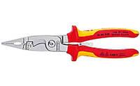 Многофункциональные клещи 6 в 1 для электромонтажных работ электроизолированные VDE 1000 V KNIPEX 13 86 200