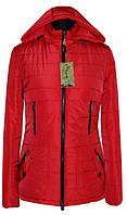 Демисезонная женская куртка с капюшоном, 42- 56 размеры
