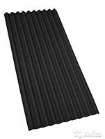 Битумный Шифер Onduline (Ондулин) 2*0,96 м. Сланец (черный)