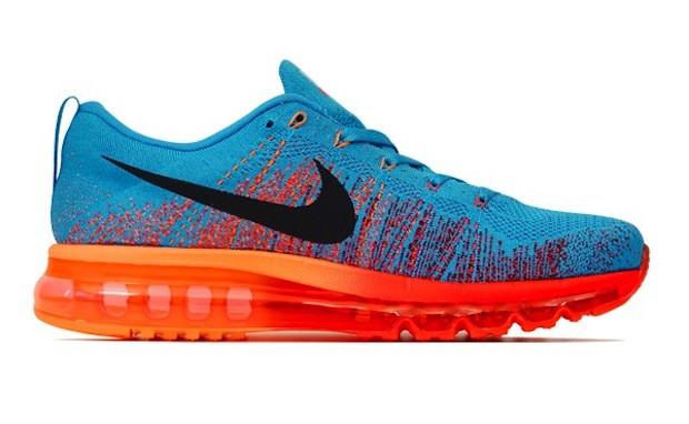 Мужские кроссовки  Nike Flyknit Air Max 2014 Vivid Blue