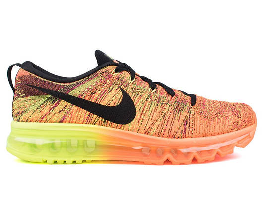 "Мужские кроссовки  Nike Flyknit Air Max 2014 ""Total Orange/Volt/Fireberry"""