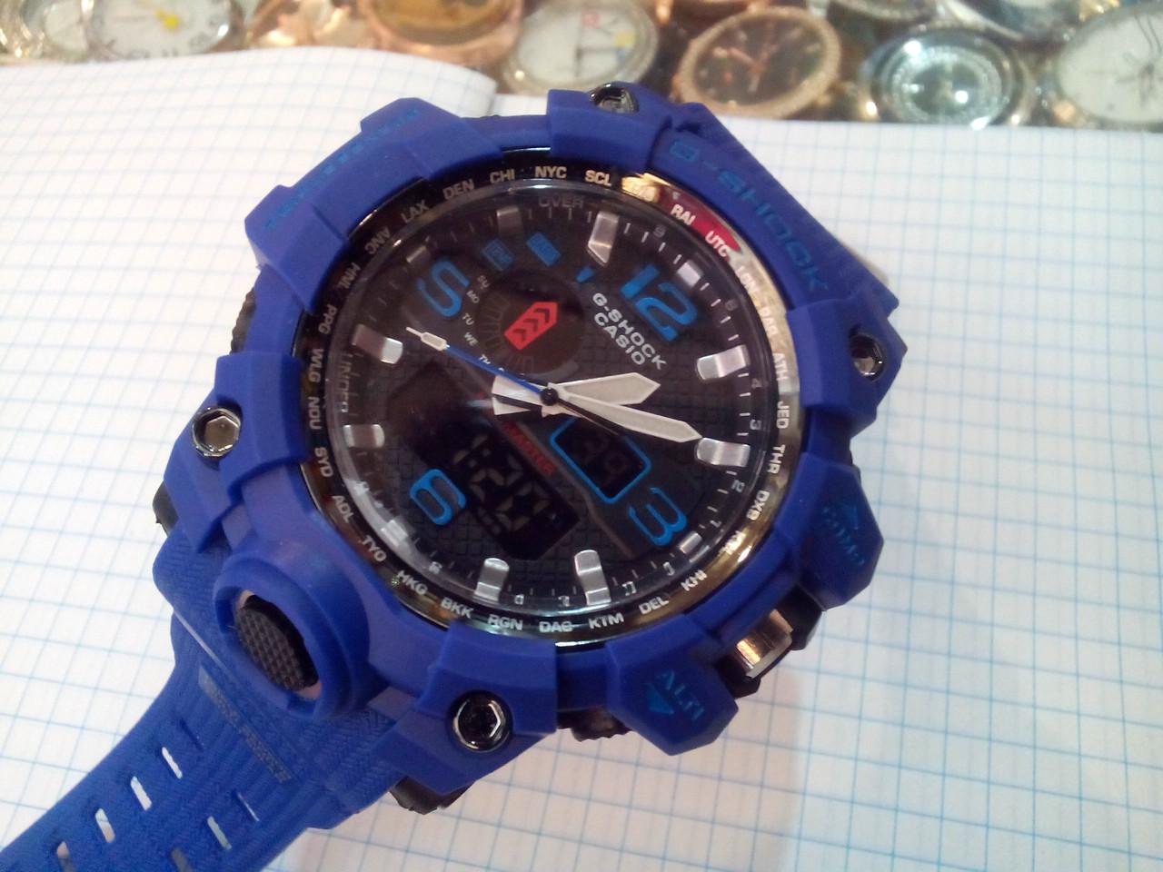 4b474454 Часы Casio G-Shock GWG-1000 Mudmaster 5463 мужские синие с подсветкой и  календарем копия