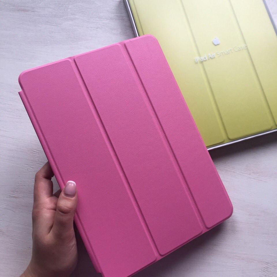 Розовый кожаный чехол Smart Case для iPad Air