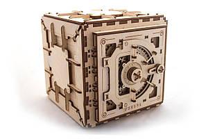 UGEARS Механический 3D пазл Сейф (179 деталей) (деревянный пазл, конструктор из дерева)