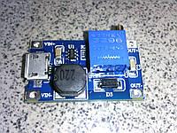 DC Повышающий. преобразователь MT3608 2A, microUSB, регулируемый