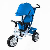 Детский трехколесный велосипед TILLY Trike (T-371 LIGHT BLUE) с родительской ручкой