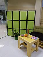 Ширма-перегородка для салонів краси,для магазинів,для дому 4 секції