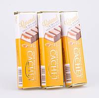 Батончик Cachet молочный шоколад с начинкой из карамели и соли, 75 г