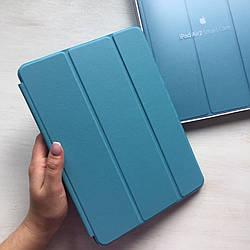 Кожаный голубой чехол Smart Case для iPad Air 2