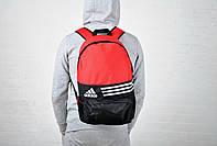 Новинка !!!! Рюкзак спортивный Adidas-Black/Red/ адидас