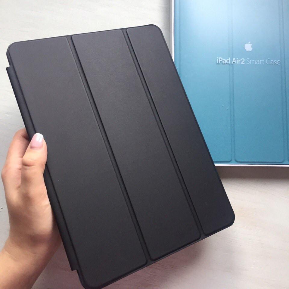 Кожаный черный чехол Smart Case для iPad Air 2