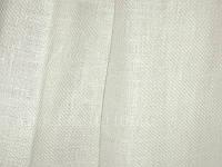 Льняная скатертная ткань в мелкий рубчик (саржевое плетение)