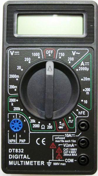 На русском инструкция dt-832 для