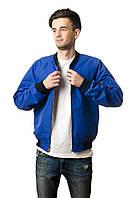 Бомбер мужской весенний Olymp синий (осень-весна, куртка мужская весенняя)