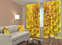 "ФотоШторы ""Жовта квітка"" 2,5 м*2,9 м (2 полотна по 1,45 м), тасьма"
