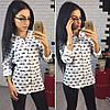 Женская красивая рубашка белого цвета