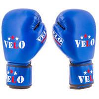 Перчатки боксерские из натуральный кожи Velo (AIBA) (12 унций, синий)