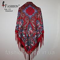 Павлопосадский бордовый платок Адель