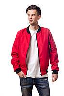 Бомбер мужской весенний Olymp красный (осень-весна, куртка мужская весенняя)