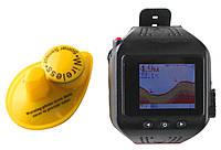 Переносной беспроводной цветной  эхолот часы Lucky FF518