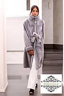 Шикарная шуба из меха скандинавской норки  SAGA FURS superior , воротник стойка, длина 105 см, фото 1