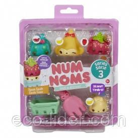Набор ароматных игрушек NUM NOMS S3 - ОВОЩИ & ФРУКТЫ  (3 нама, 1 ном, с аксессуарами)