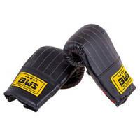 Перчатки боксерские снарядные на резинке BWS DX (р.XL, черный)