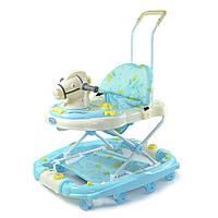 Ходунки детские TILLY 683Y BLUE лошадка, ходунки для малышей