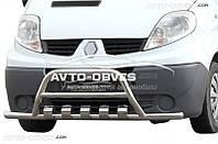 Кенгурятник для Renault Trafic, с дополнительными усами Ø 60 мм