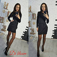 Женское модное платье со вставкой кружева (4 цвета), фото 1