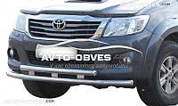 Двойной ус переднего бампера для Toyota Hilux 2012-2015