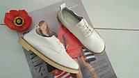 Туфли на шнурках белые