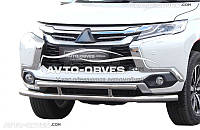 Двойная защита переднего бампера Mitsubishi Pajero Sport (2016-...)