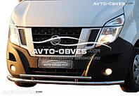 Двойная защита переднего бампера Opel Movano