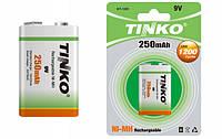 Аккумулятор TINKO 250 mAh Ni-MH  size 9V