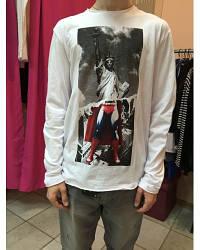 Мужская футболка белая длинный рукав Antony Morato